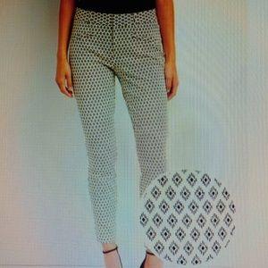 Gap White/Black Skinny Ankle Stretchy Pants NWOT